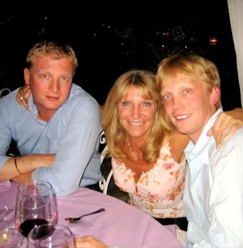 Bonnie with sons Simon and Kristopher
